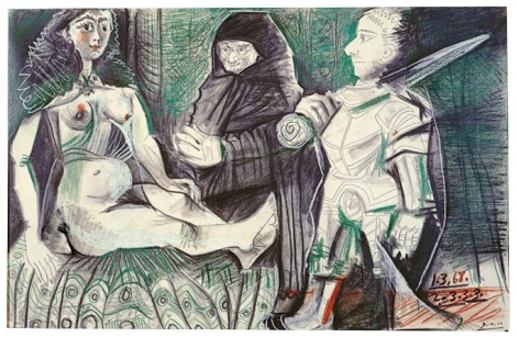 Pablo Picasso, Courtesan and Warrior, March 1-3, 1968