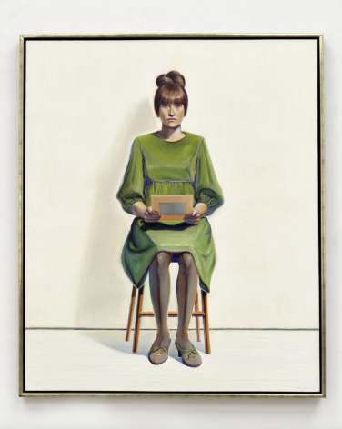 Thiebaud, Green Dress, 1966