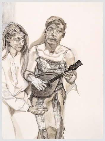 Lucian Freud, Two Figures from 'Large Interior W11 (After Watteau)'