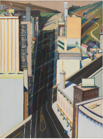 Wayne Thiebaud, Sunset Streets, 1985