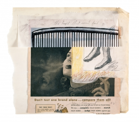 Source and Preparatory Sketch for The Light That Won't Fail I, 1961, Collage and mixed media, 12 3/16 x 13 7/8 inches (31 x 35.2 cm)