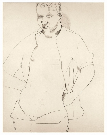 Lucian Freud, Study of Francis Bacon