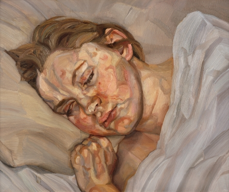 "Lucian Freud, ""Sleeping Head"""