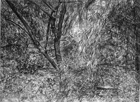 Lucian Freud, The Painter's Garden, 2003-4