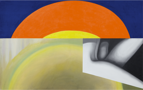 James Rosenquist, Brighter Than the Sun, 1961, Oil on canvas, 57 x 90 inches (144.8 x 228.6 cm)