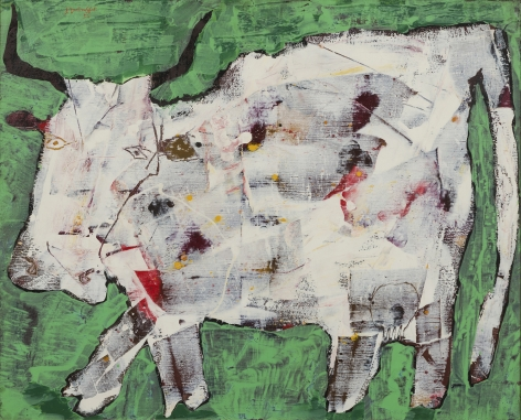 Jean Dubuffet, Vache aux cornes noires [Cow with Black Horns], August 1954