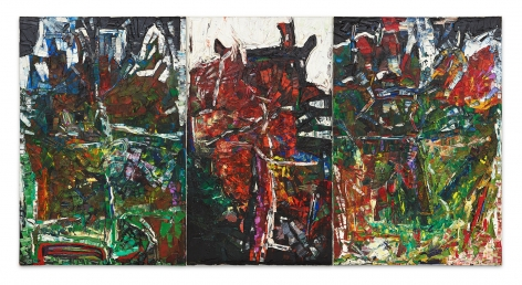 Jean Paul Riopelle, Les Picandeaux, 1967, Oil on canvas in three panels