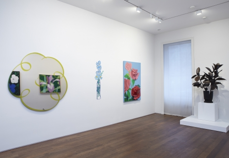 Left to Right: , Jeff Koons, Flower Drawing (Yellow), © Jeff Koons