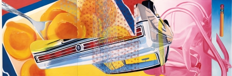 James Rosenquist, Lanai, 1964, Oil on canvas, 62 x 186 inches