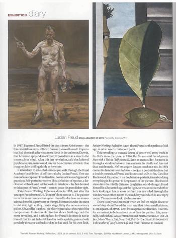 "Charles Darwent, ""Lucian Freud, Royal Academy of Arts"""
