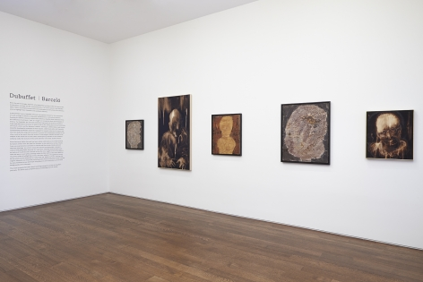 Installation view of Dubuffet | Barceló at Acquavella Galleries from June 29 - September 16, 2014.