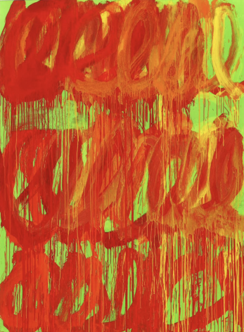 """Photograph of Cy Twombly's """"Camino Real,"""" 2011"""