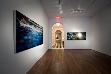 Installation view of Synesthesia, Parataxic Distortion, and the Shadow: A Show of Paintings by Damian Loeb at Acquavella Galleries from September 5 - October 4, 2008.