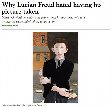"Martin Gayford, ""Why Lucian Freud hated having his picture taken,"" October 26, 2019"