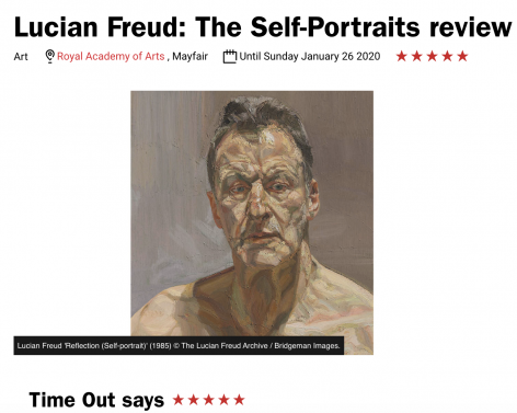 "Time Out, ""Lucian Freud: The Self-Portraits review"""