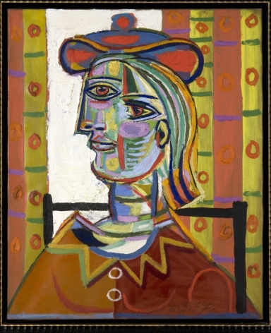 "Photograph of Pablo Picasso's ""Femme au beret et la collerette (Woman with Beret and Collar),"" 1937"