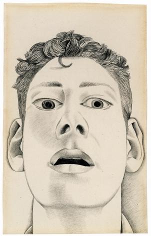 Lucian Freud, Startled Man: Self-Portrait