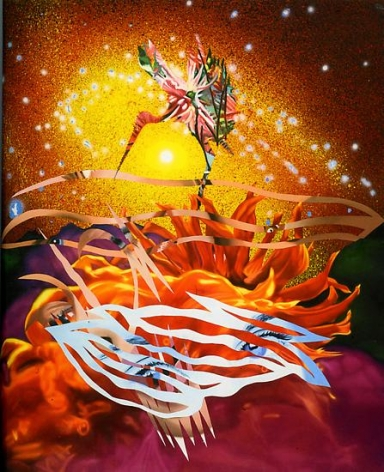 "James Rosenquist, ""The Bird of Paradise Approaches the Hot Water Planet"""