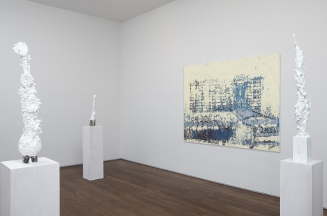 Installation view of Enoc Perez: The Good Days at Acquavella Galleries from January 10 - February 8, 2013.