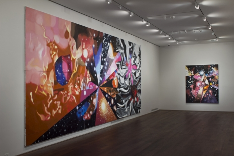 Installation view of James Rosenquist: Multiverse You Are, I am at Acquavella Galleries from September 10 - October 13, 2012.
