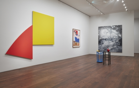 Left to Right, Ellsworth Kelly,Untitled (Red and Yellow),1989,© Ellsworth Kelly Foundation, Courtesy Matthew Marks Gallery