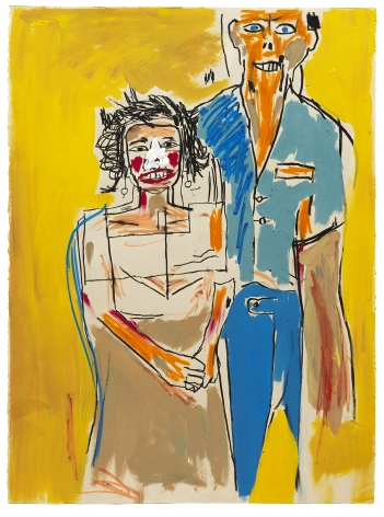 "Basquiat ""Portrait of Herb and Lenore,"" 1983"