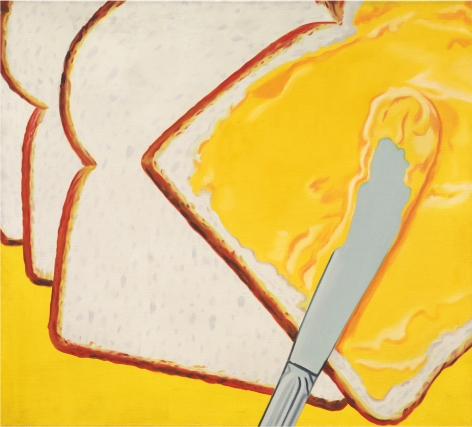 James Rosenquist, White Bread, 1964, Oil on canvas, 54 x 60 inches (137.2 x 152.4 cm)