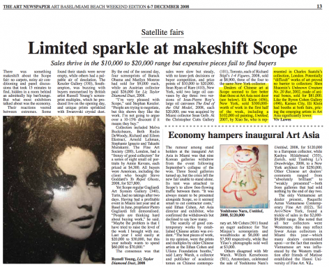 The Art Newspaper | Limited Sparkle at Makeshift Scope