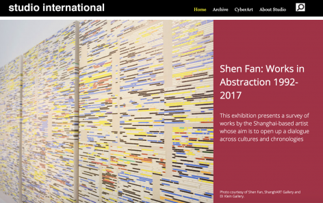 Studio International | Shen Fan: Works in Abstraction 1992-2017