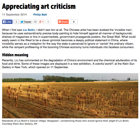 Chemistry World | Appreciating art criticism
