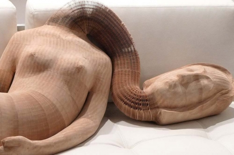 Design Boom | Flexible Honeycomb Paper Sculptures by Li Hongbo