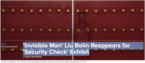 NBC News | 'Invisible Man' Liu Bolin Reappears for 'Security Check' Exhibit