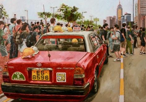 Chow_Chun_Fai_City_Hall_2019_Acrylic_on_canvas_28x40 1/8_inches_71x102_cm