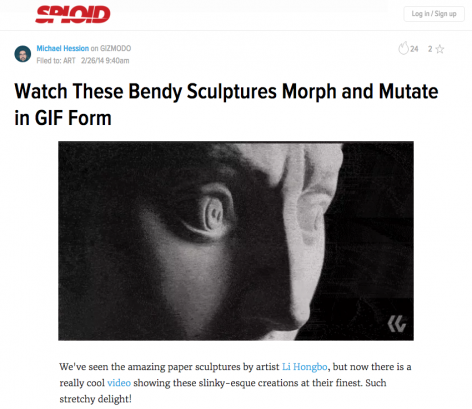 Sploid I Watch These Bendy Sculptures Morph and Mutate in GIF Form