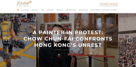 ZOLIMA CITY MAG | A PAINTER IN PROTEST CHOW CHUN-FAI CONFRONTS HONG KONG'S UNREST