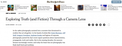 The New York Times | Exploring Truth (and Fiction) Through a Camera Lens
