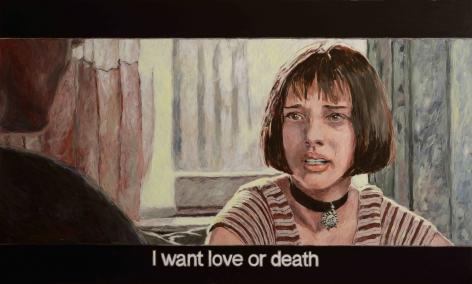 Chow_Chun_Fai_Leon_the_Professional_I_want_love_or_death_Acrylic_on_canvas_120x200cm_2018