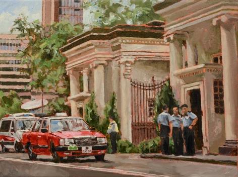 Chow_Chun_Fai_Government_House_2019_Acrylic_on_canvas_11 3/4x15 3/4_inches_30x40_cm