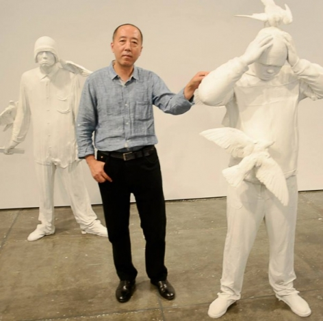 Artsy | Square by Zhang Dali at Klein Sun Gallery