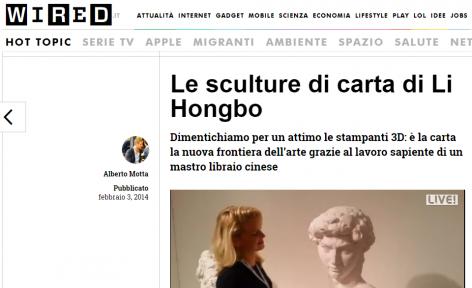 Wired I Le sculture di carta di Li Hongbo