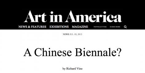 Art in America I A Chinese Biennale