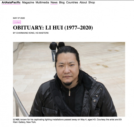 Art Asia Pacific   Obituary: Li Hui