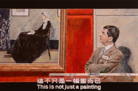 Chow_Chun_Fai_Bean_This_is_not_just_a_painting_acrylic_on_canvas_100x150cm_2018