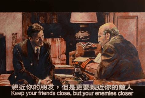 Chow_Chun_Fai_Godfather_II_Keep_your_friends_close_but_Your_enemies_closer_Acrylic_on_canvas_135x200cm_2018