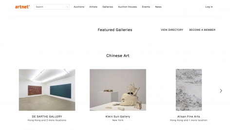 Artnet | Featured Galleries 'Chinese Art'