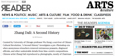 Chicago Reader | Zhang Dali: A Second History