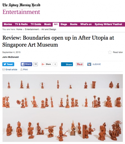 The Sydney Morning Herald Review | Boundaries open up in After Utopia at Singapore Art Museum