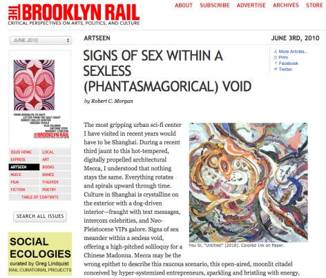 Brooklyn Rail I Signs of Sex Within a Sexless (Phantasmagorical) Void