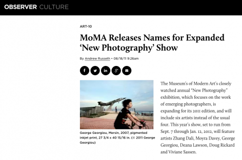 The Observer | MoMA Releases Names for Expanded 'New Photography' Show