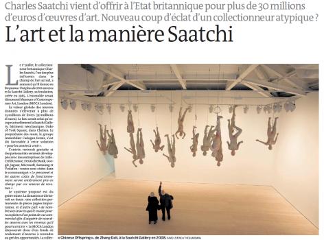 Le Monde | L'art et la maniere Saatchi